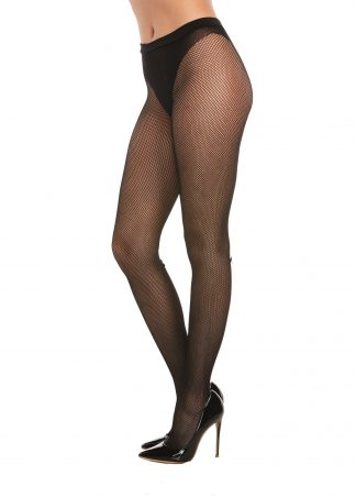 0368 Fishnet Pantyhose With Knitted Panty