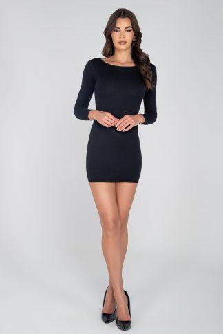 3952 Classic Ribbed Long sleeve Bodycon Dress