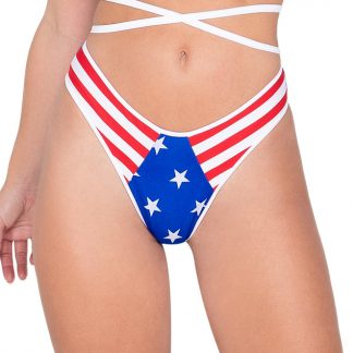 6030 American Flag Shorts with Stars Front Panel