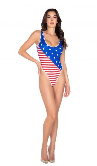 6033 American Flag Romper