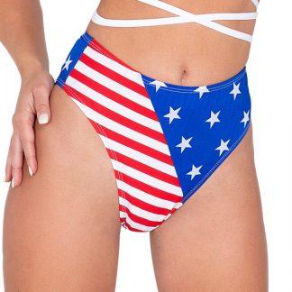 6038 American Flag High Waisted Shorts