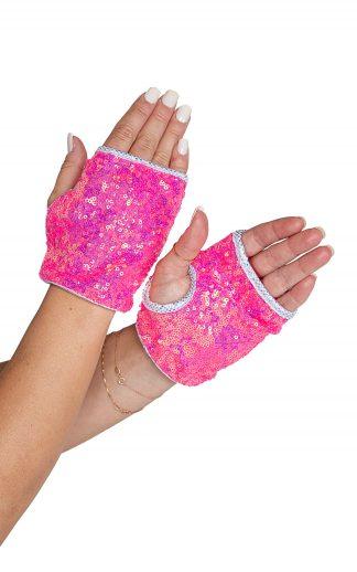 6042 Open Finger Sequin Gloves