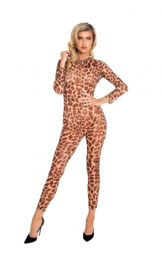 LI455 Sheer Leopard Bodysuit