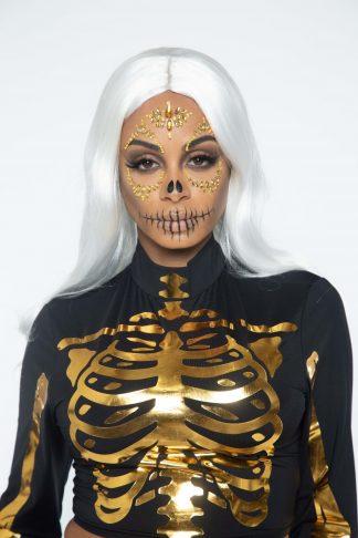 Sugar Skull Adhesive Face Jewels Sticker