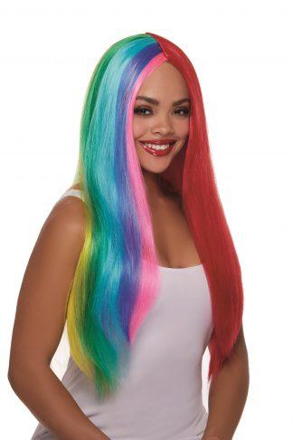 12312 Primary Rainbow Wig