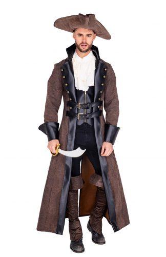 4pc Men's Caribbean Pirate Costume