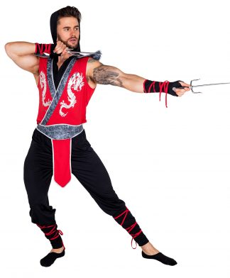 6pc Deadly Combat Ninja Costume