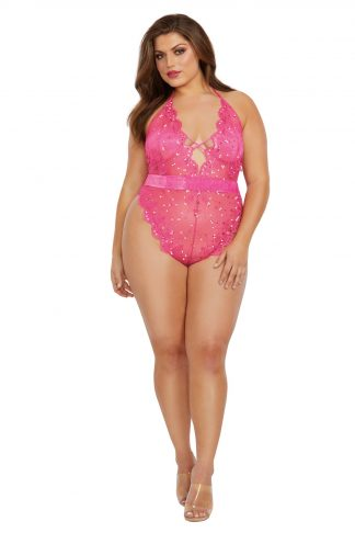 12382X Sequin Embroidery Teddy