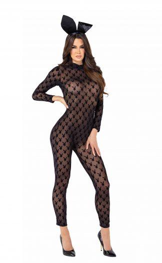2pc Sheer Playboy Bunny Bodysuit